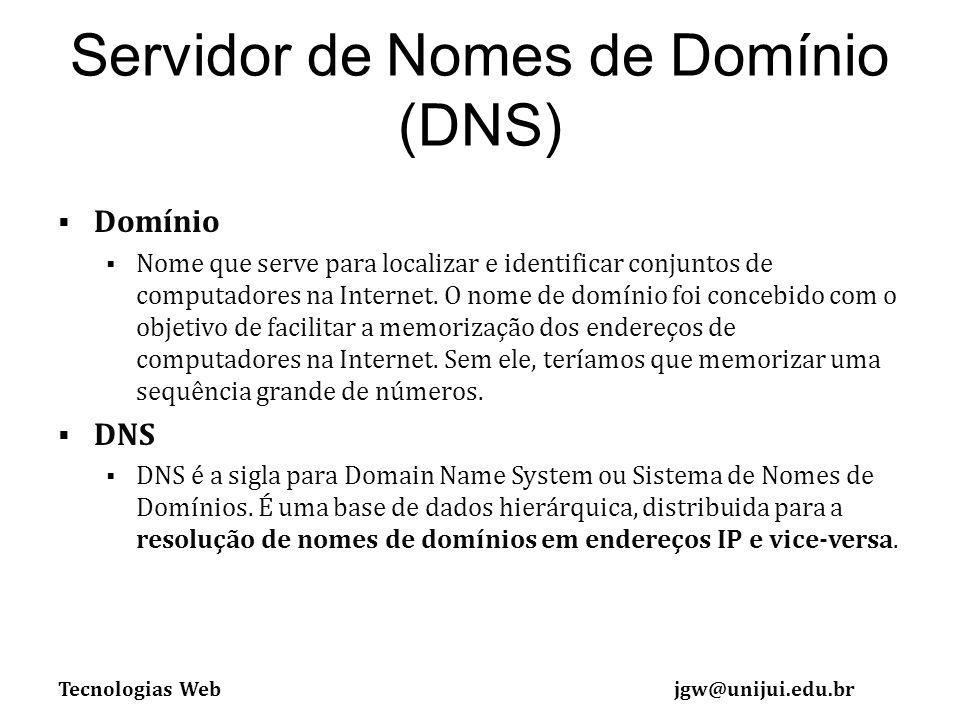 Servidor de Nomes de Domínio (DNS)