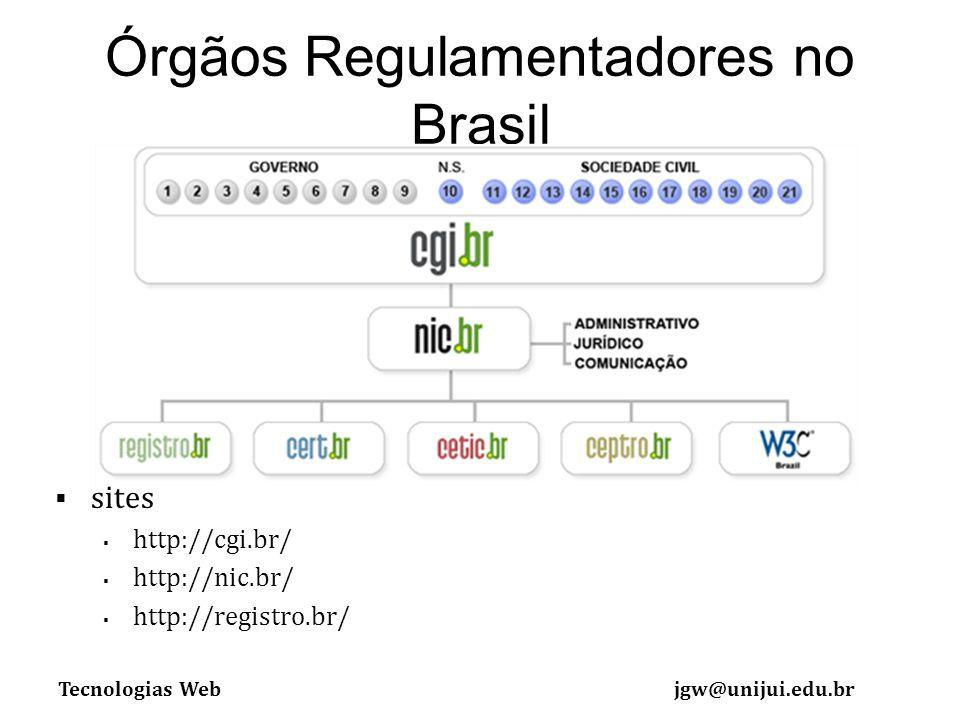 Órgãos Regulamentadores no Brasil