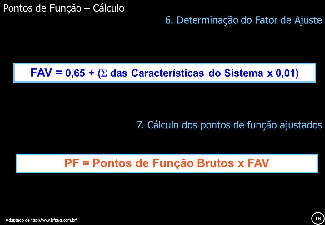 FAV = 0,65 + ( das Características do Sistema x 0,01)