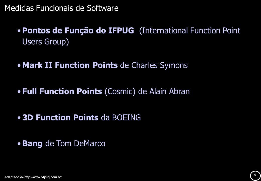 Medidas Funcionais de Software