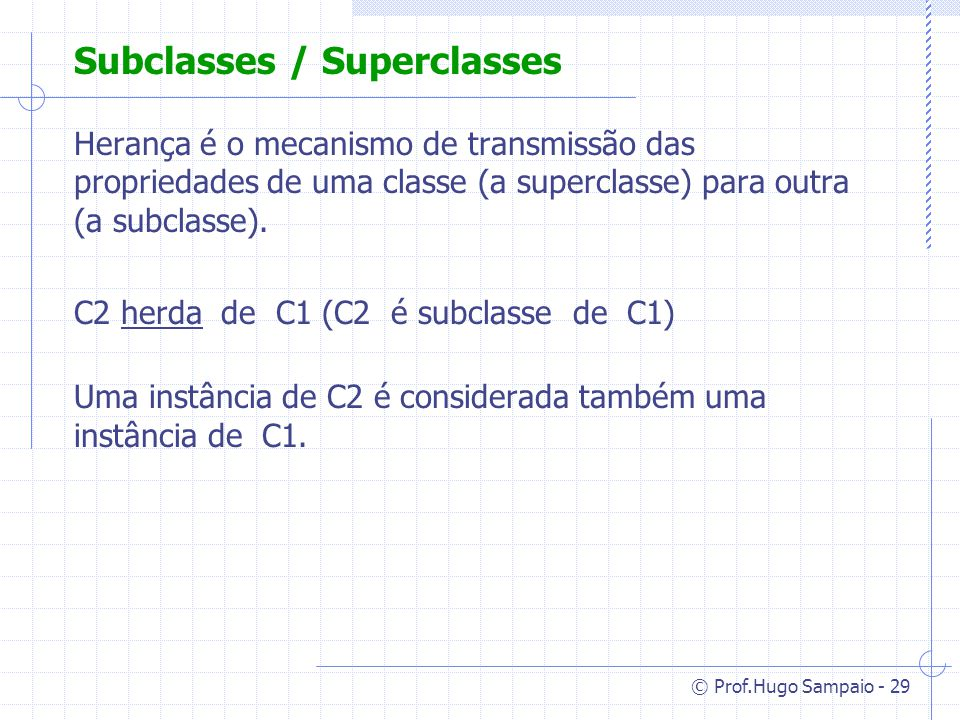 Subclasses / Superclasses