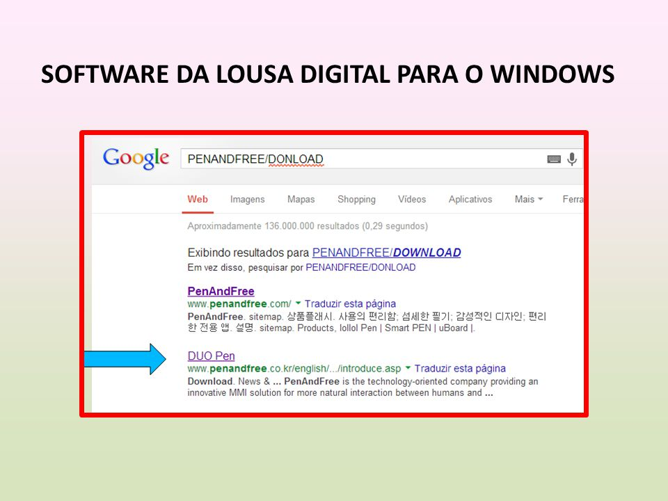 SOFTWARE DA LOUSA DIGITAL PARA O WINDOWS