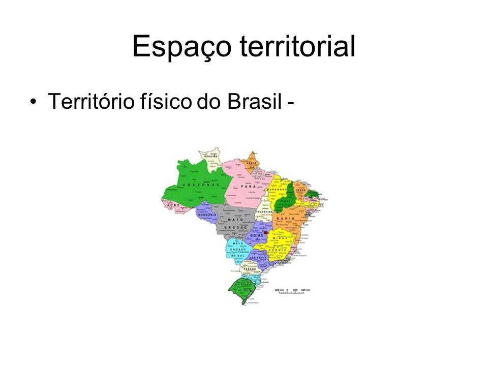 Espaço territorial Território físico do Brasil -