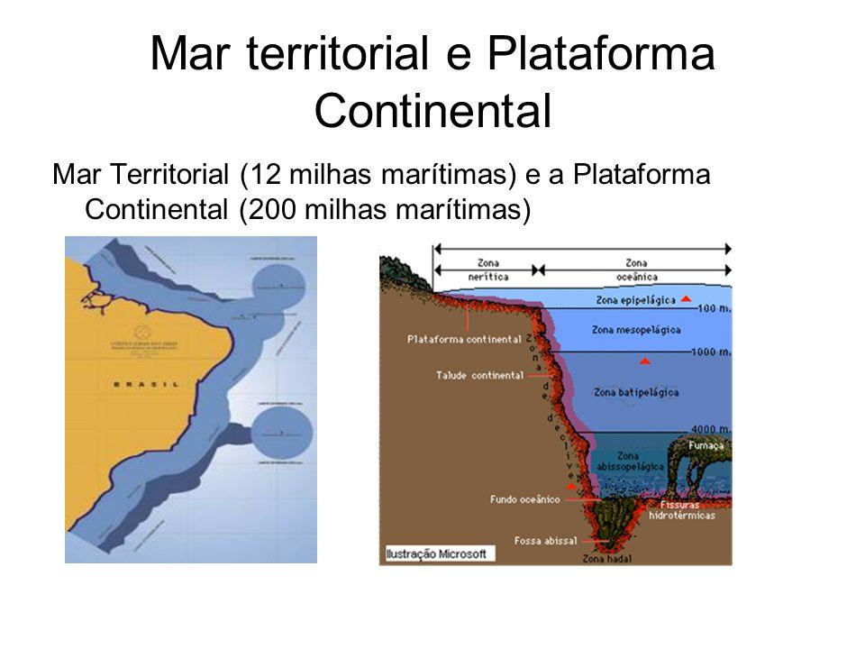 Mar territorial e Plataforma Continental