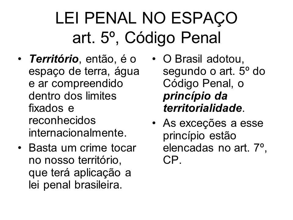 LEI PENAL NO ESPAÇO art. 5º, Código Penal