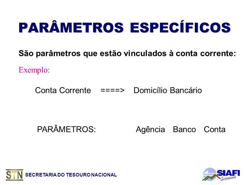 PARÂMETROS ESPECÍFICOS