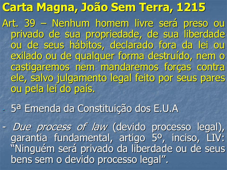 Carta Magna, João Sem Terra, 1215