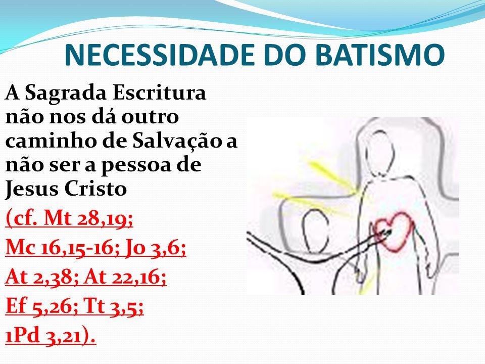 NECESSIDADE DO BATISMO