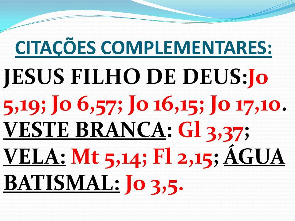CITAÇÕES COMPLEMENTARES: