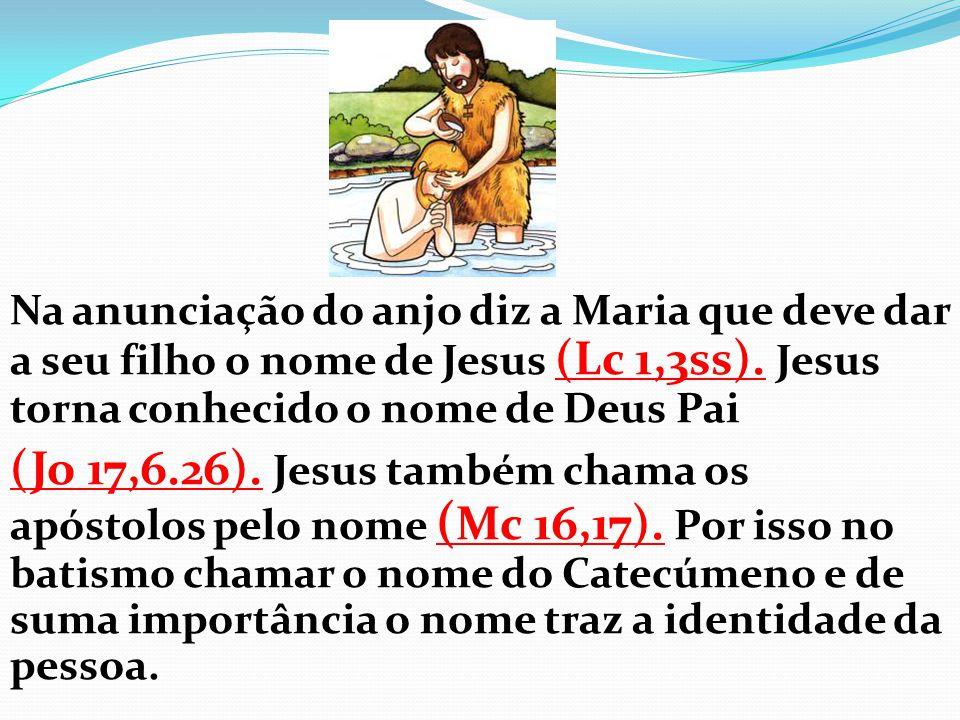 Na anunciação do anjo diz a Maria que deve dar a seu filho o nome de Jesus (Lc 1,3ss). Jesus torna conhecido o nome de Deus Pai