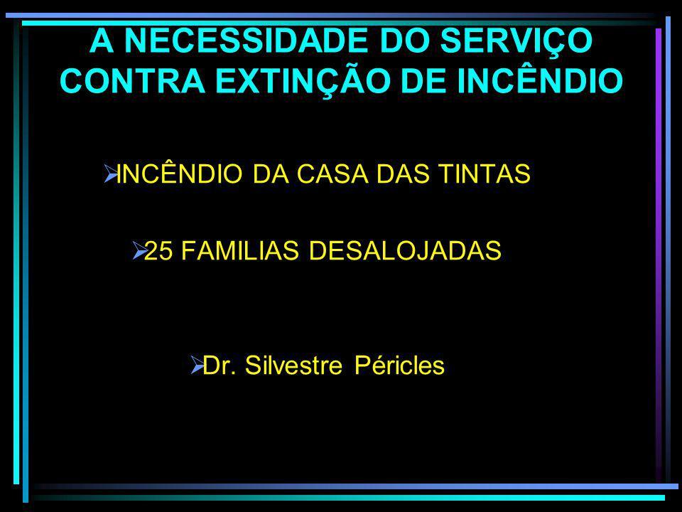 A NECESSIDADE DO SERVIÇO CONTRA EXTINÇÃO DE INCÊNDIO