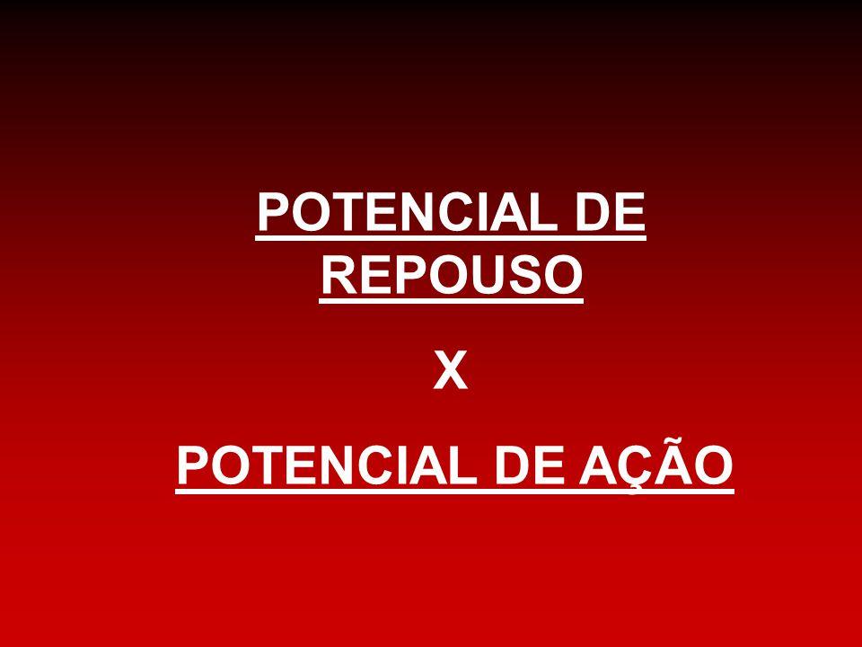 POTENCIAL DE REPOUSO X POTENCIAL DE AÇÃO