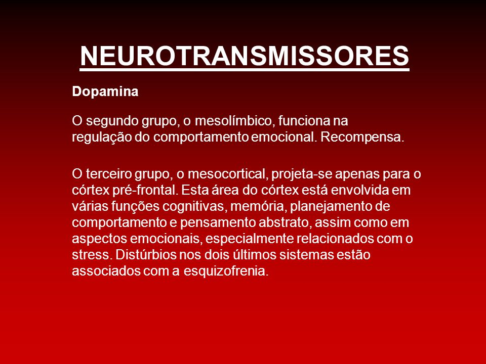 NEUROTRANSMISSORES Dopamina