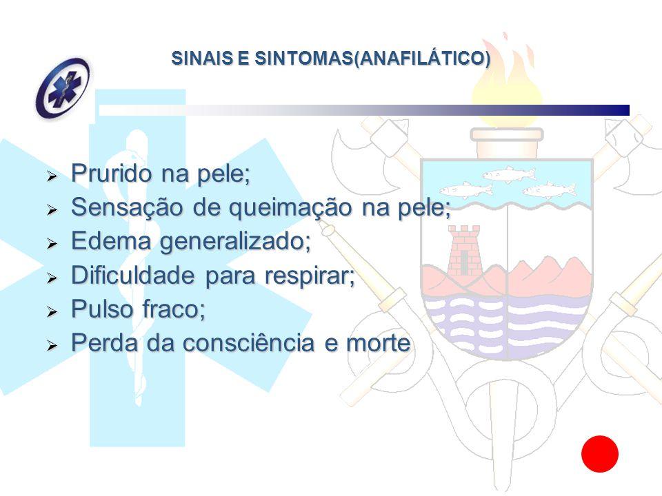 SINAIS E SINTOMAS(ANAFILÁTICO)