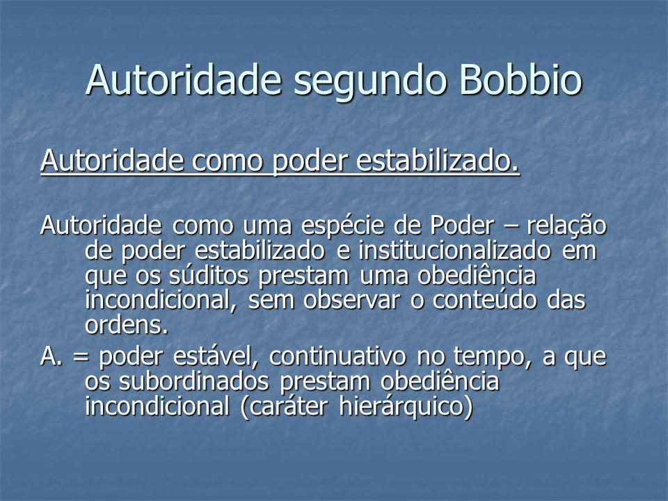 Autoridade segundo Bobbio