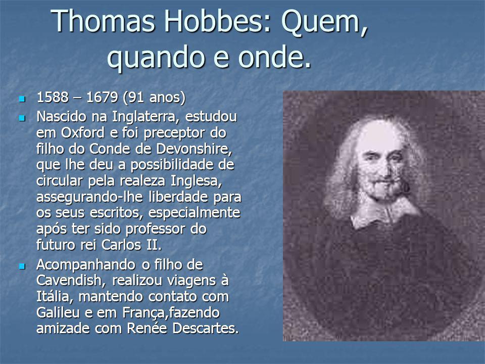 Thomas Hobbes: Quem, quando e onde.