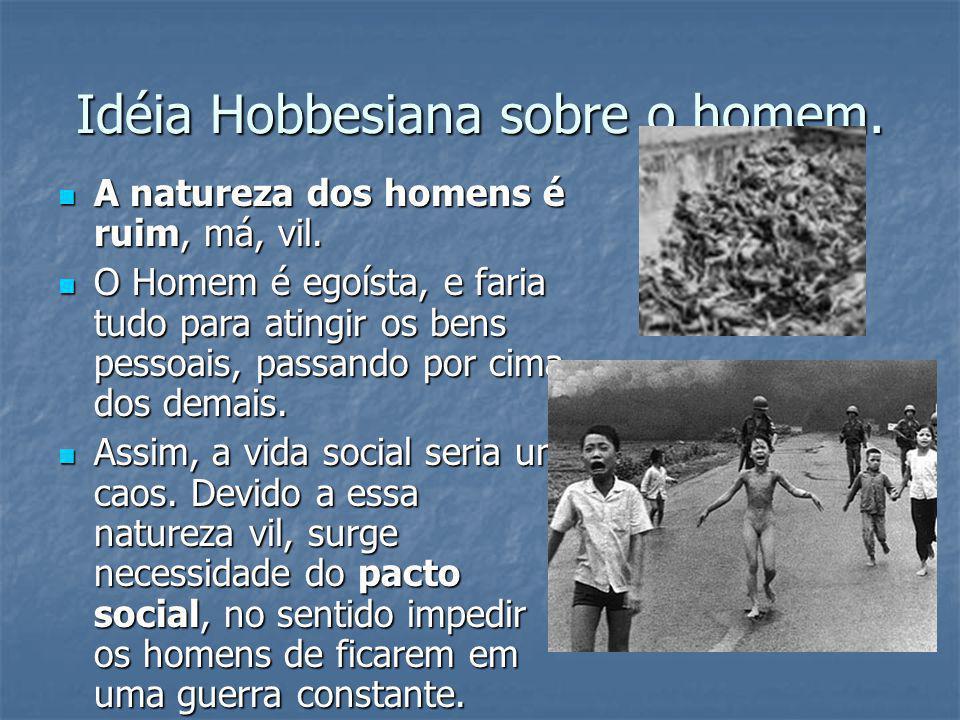 Idéia Hobbesiana sobre o homem.