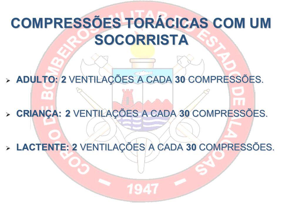 COMPRESSÕES TORÁCICAS COM UM SOCORRISTA