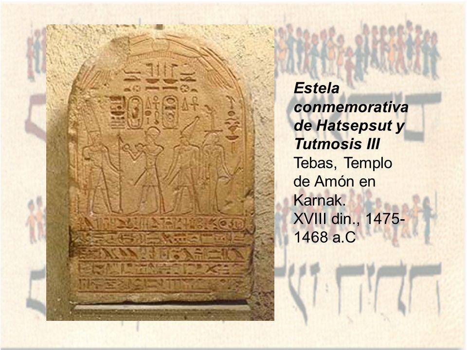 Estela conmemorativa de Hatsepsut y Tutmosis III
