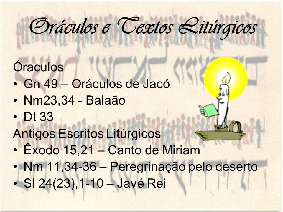 Oráculos e Textos Litúrgicos