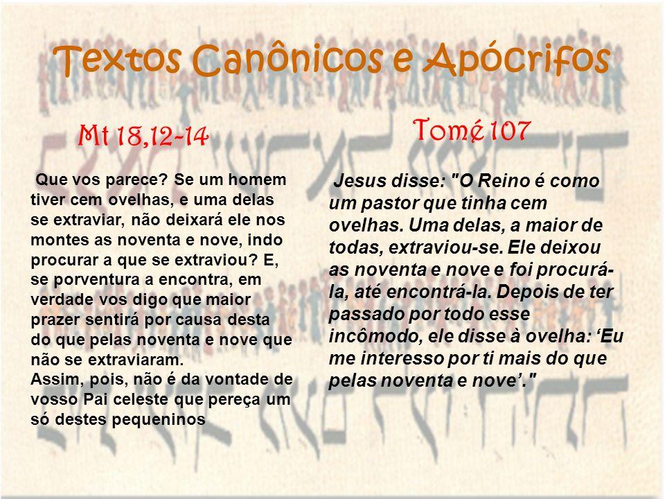 Textos Canônicos e Apócrifos