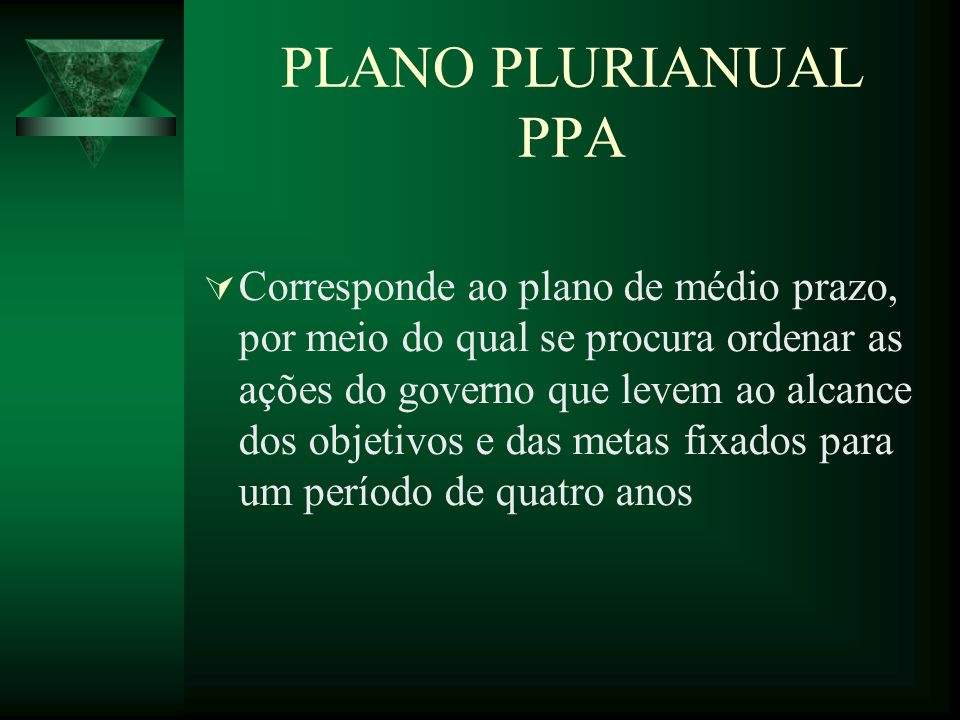 PLANO PLURIANUAL PPA