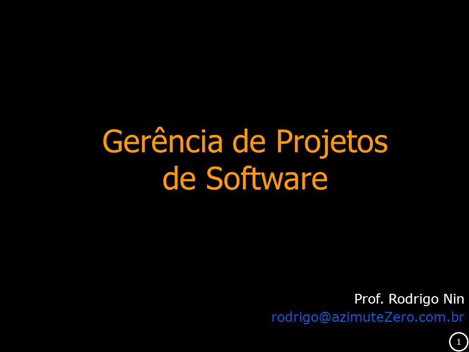 Gerência de Projetos de Software Prof. Rodrigo Nin