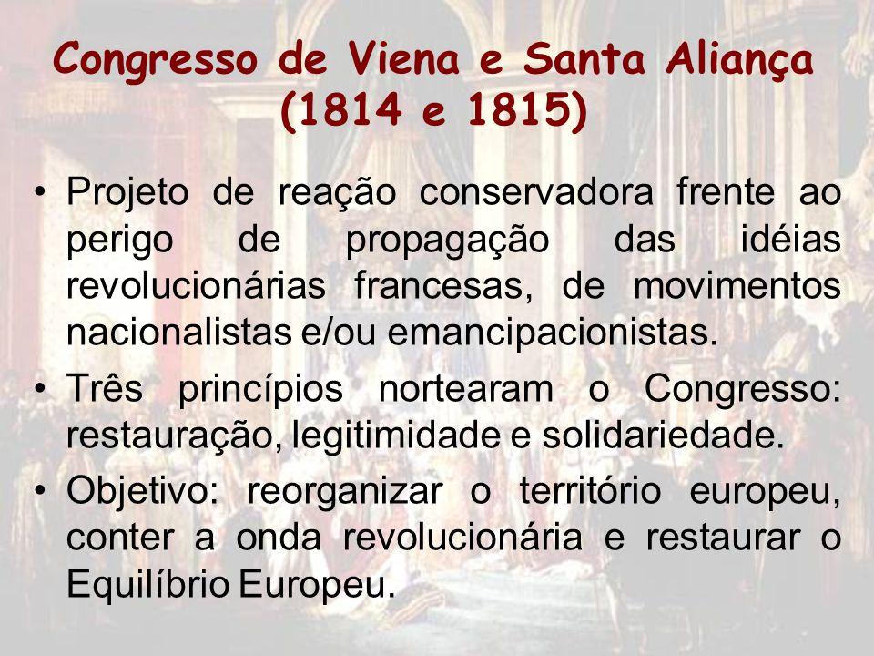 Congresso de Viena e Santa Aliança (1814 e 1815)