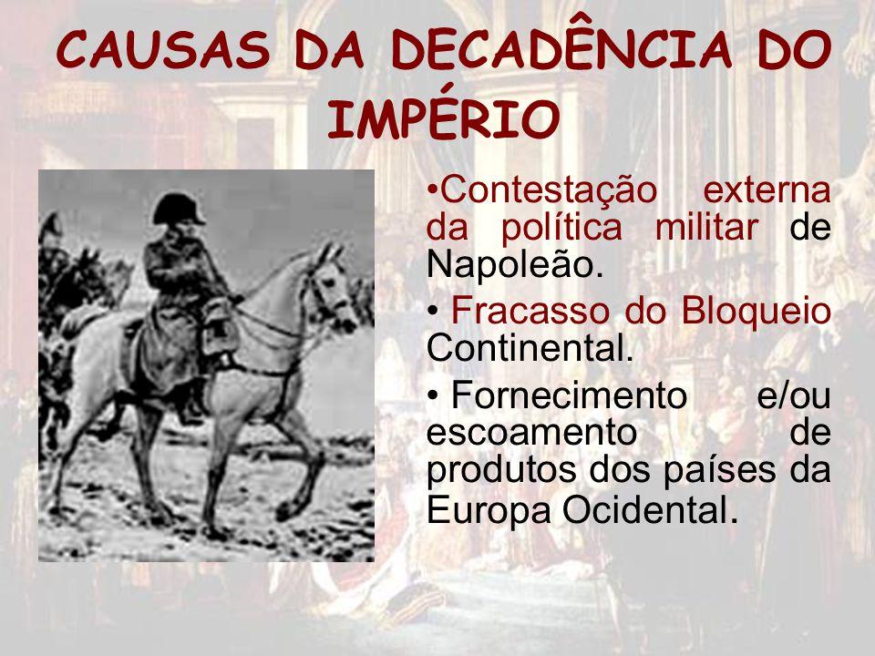 CAUSAS DA DECADÊNCIA DO IMPÉRIO