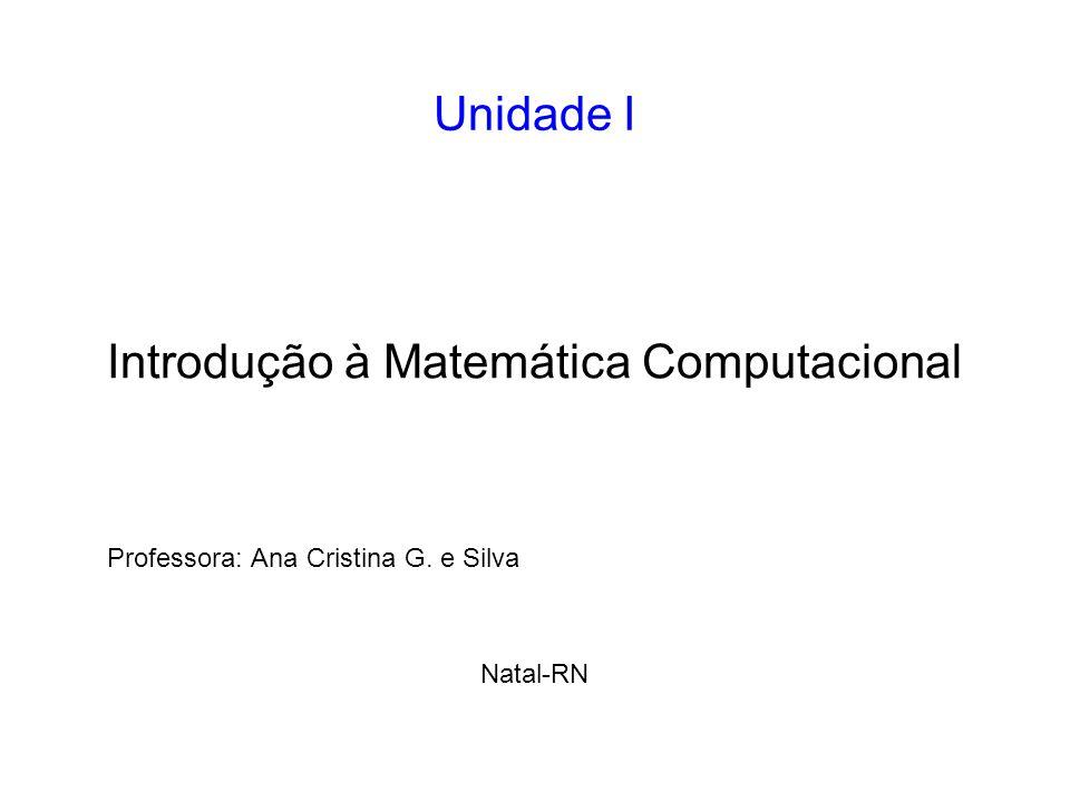 Professora: Ana Cristina G. e Silva Natal-RN
