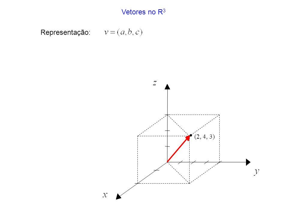 Vetores no R3 Representação: (2, 4, 3)