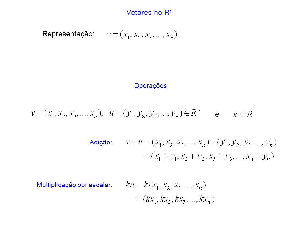 Multiplicação por escalar: