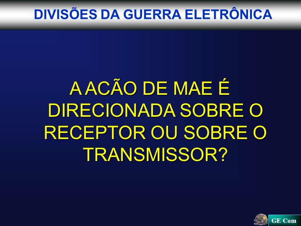 A ACÃO DE MAE É DIRECIONADA SOBRE O RECEPTOR OU SOBRE O TRANSMISSOR