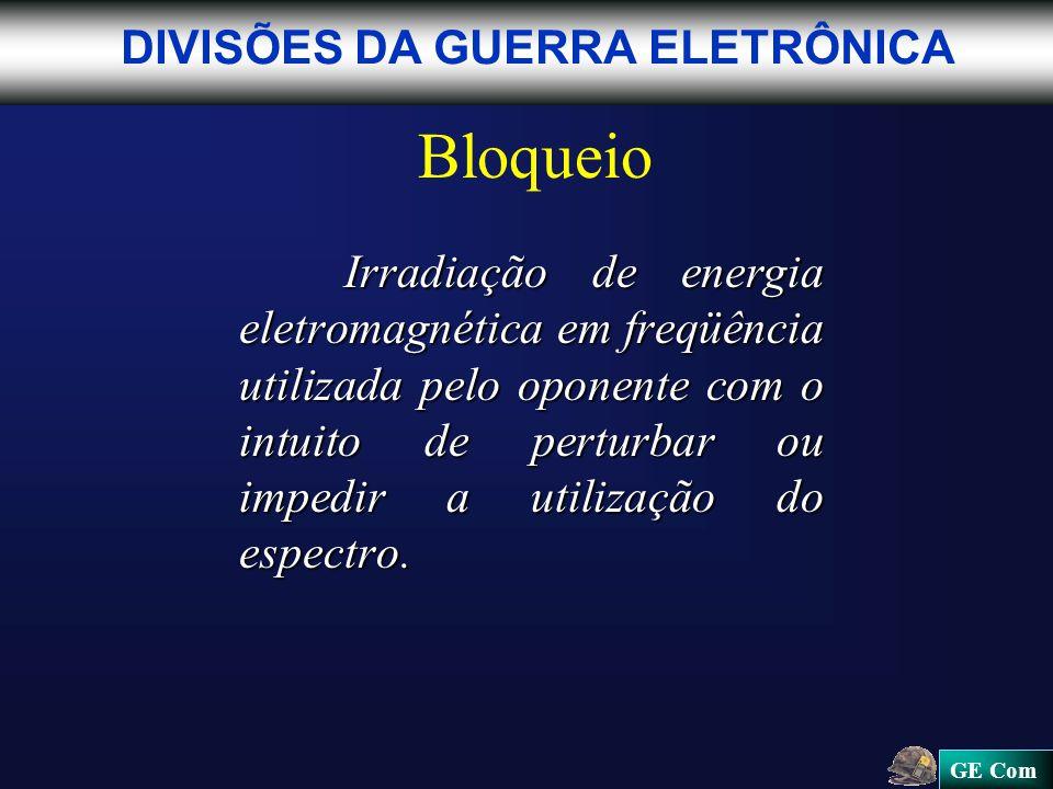 Bloqueio DIVISÕES DA GUERRA ELETRÔNICA