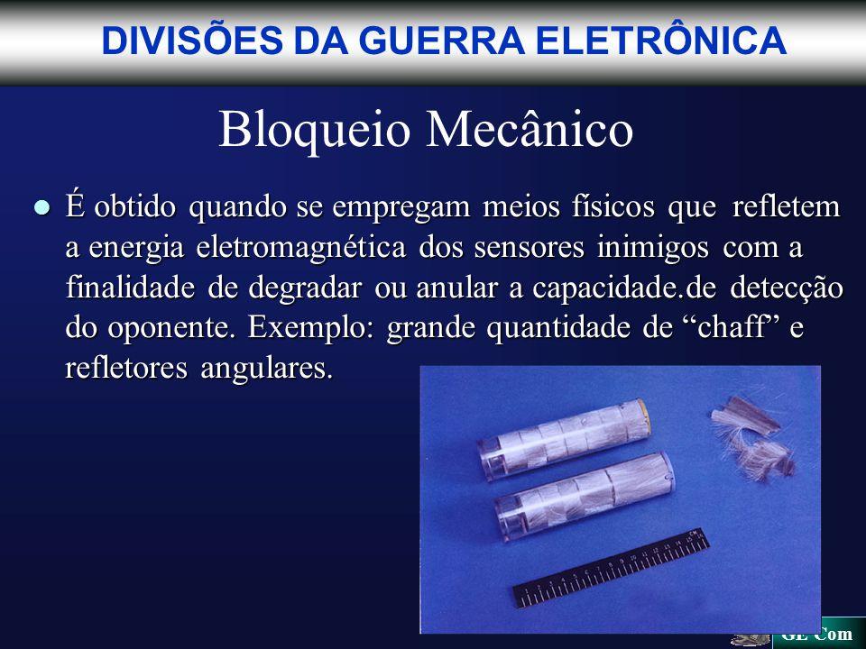 Bloqueio Mecânico DIVISÕES DA GUERRA ELETRÔNICA