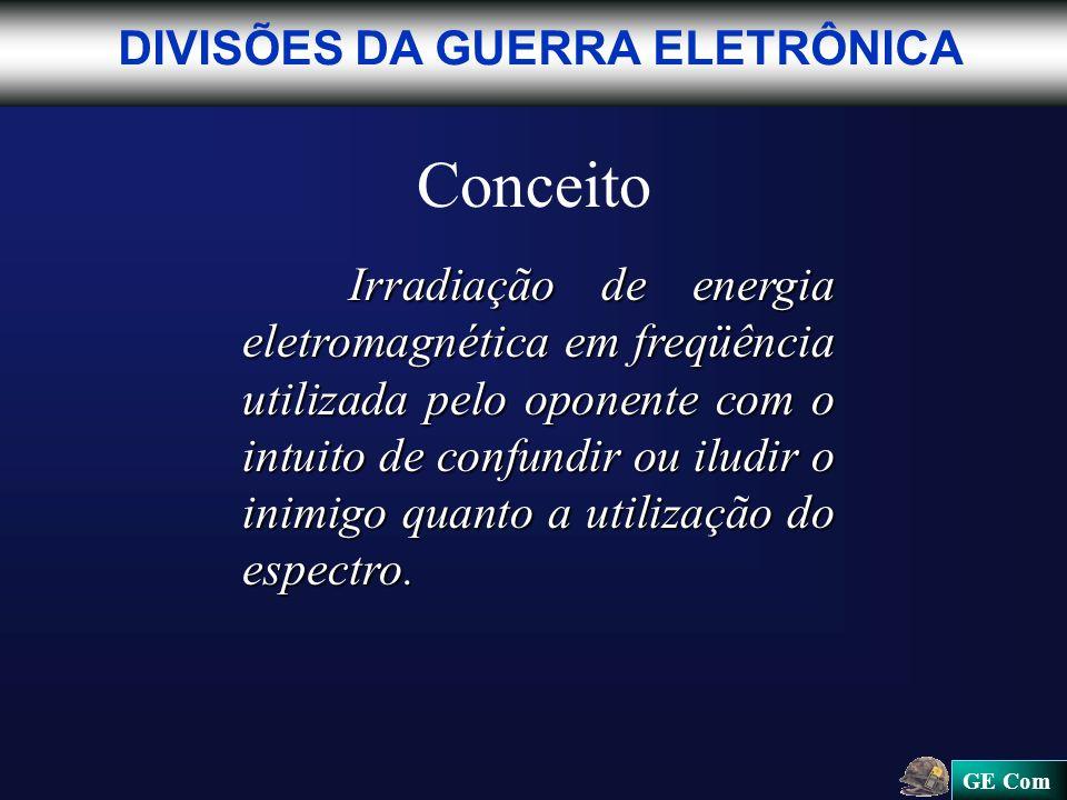 Conceito DIVISÕES DA GUERRA ELETRÔNICA