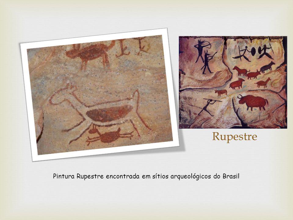 Pintura Rupestre encontrada em sítios arqueológicos do Brasil