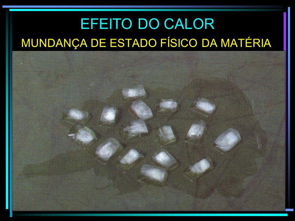MUNDANÇA DE ESTADO FÍSICO DA MATÉRIA