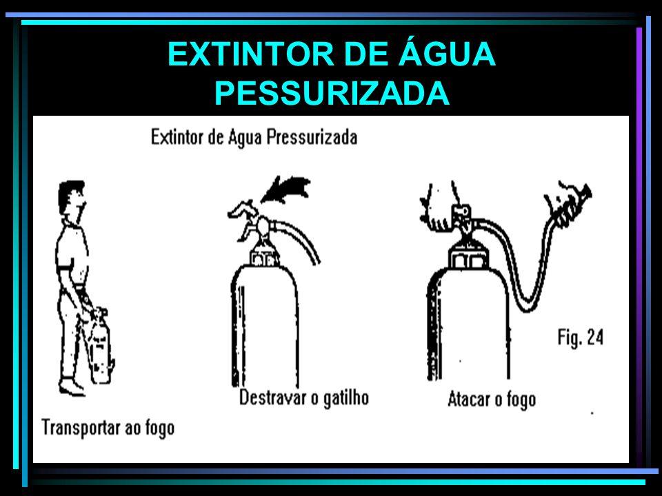 EXTINTOR DE ÁGUA PESSURIZADA