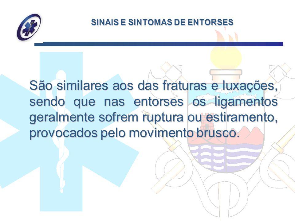 SINAIS E SINTOMAS DE ENTORSES