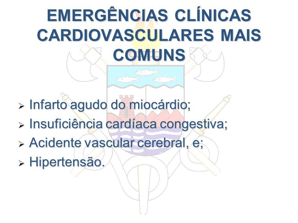 EMERGÊNCIAS CLÍNICAS CARDIOVASCULARES MAIS COMUNS