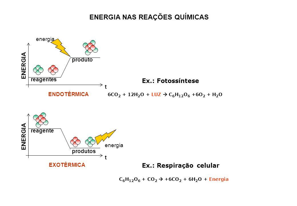 Ex.: Respiração celular