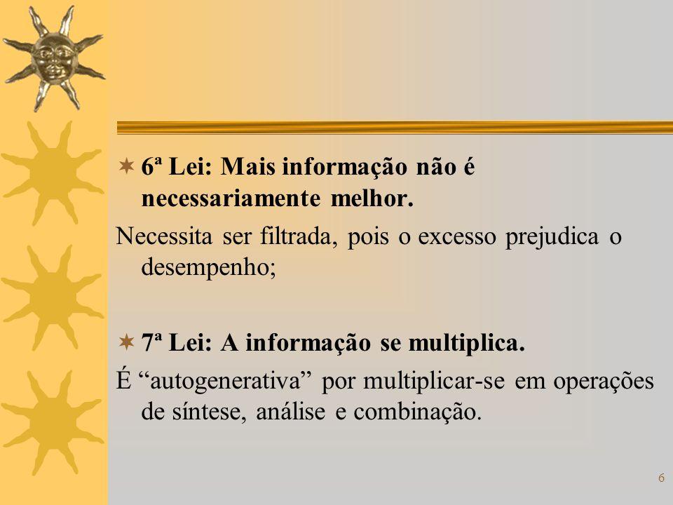 6ª Lei: Mais informação não é necessariamente melhor.