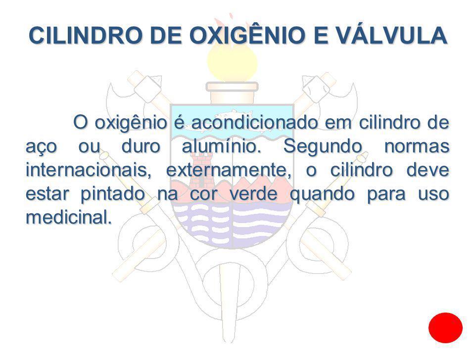 CILINDRO DE OXIGÊNIO E VÁLVULA