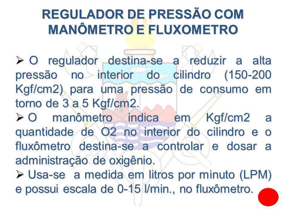 REGULADOR DE PRESSÃO COM MANÔMETRO E FLUXOMETRO