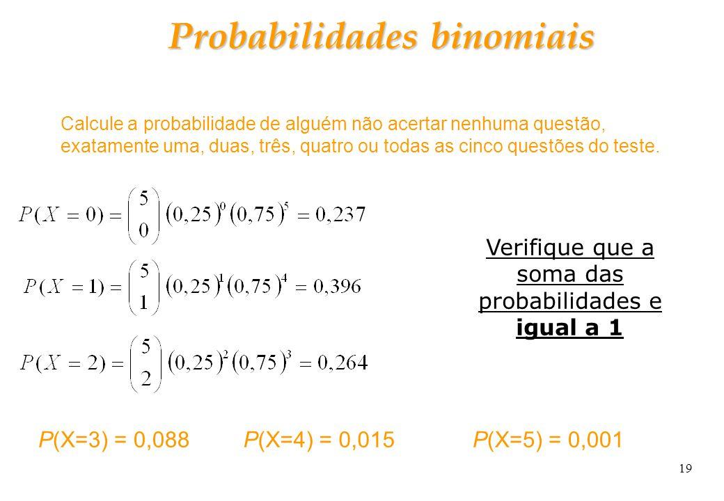 Probabilidades binomiais