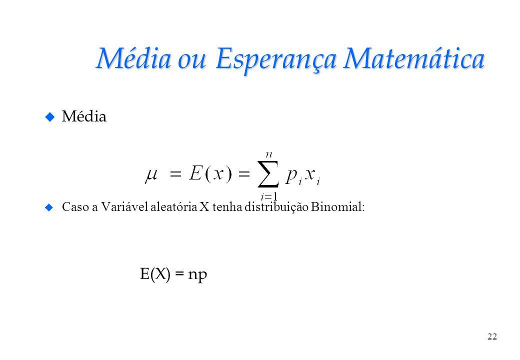 Média ou Esperança Matemática