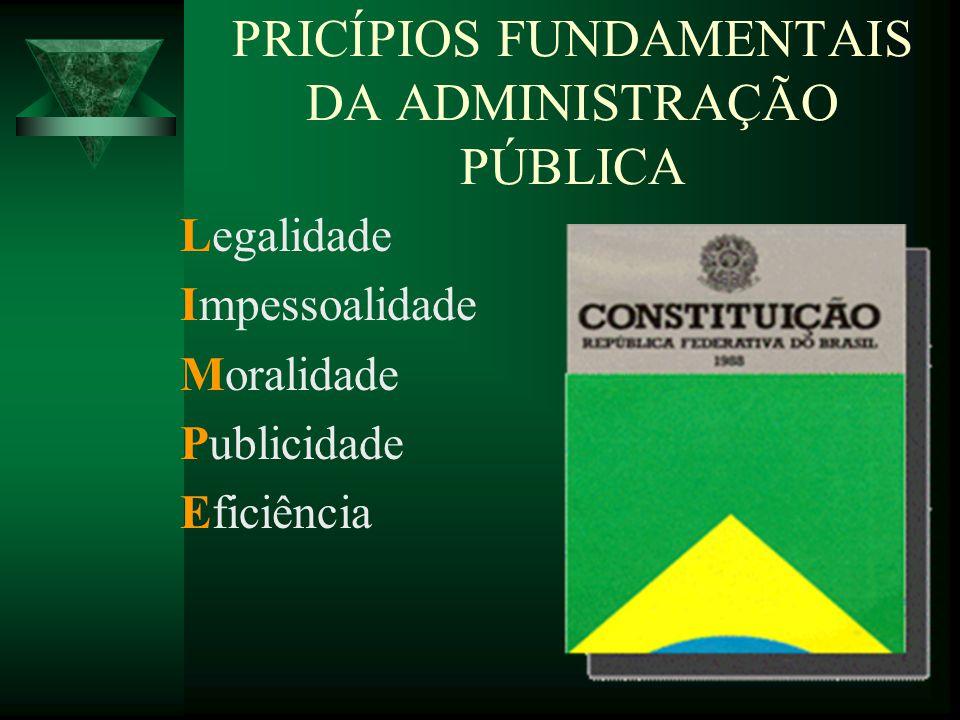 PRICÍPIOS FUNDAMENTAIS DA ADMINISTRAÇÃO PÚBLICA