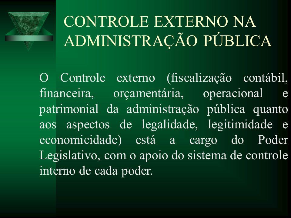 CONTROLE EXTERNO NA ADMINISTRAÇÃO PÚBLICA