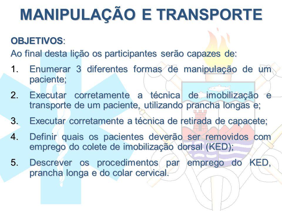 MANIPULAÇÃO E TRANSPORTE